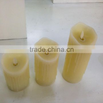 flameless dripping moving wick led candles with remote control led dancing wick candles with timer