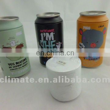 Bottles compressed T-shirt/zip-top can for promotion