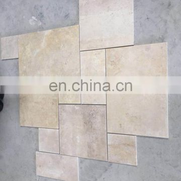 Beige travertine tile pattern