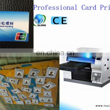 SLJET corrugated hard plastic card flatbed inkjet uv printer for sale
