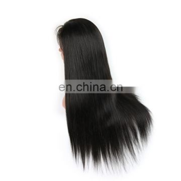 Factory price 100% Brazilian human virgin 9A grade lace fornt wig in silky straight no chemical process hair