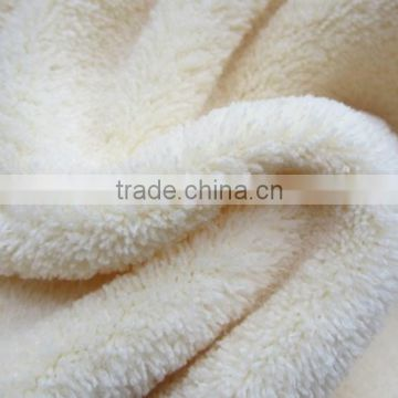 two side brush printing or dyeing tricot coral printed panda fleece fabric