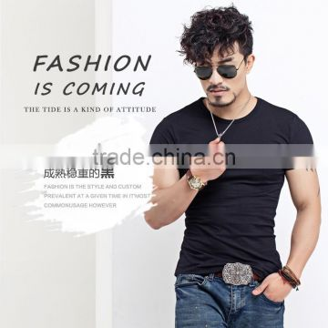 High quality China Factory Plian Slim Fit Cotton v neck T Shirts For Men