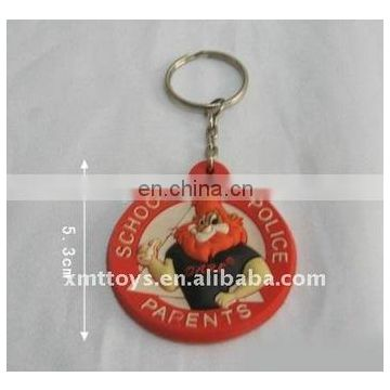 2017 hot sell 3D keychain cheap injection rubber