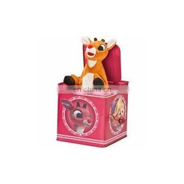 New 2017 Jack in the box tiger toy gift sing music song tin box Umay-A0029