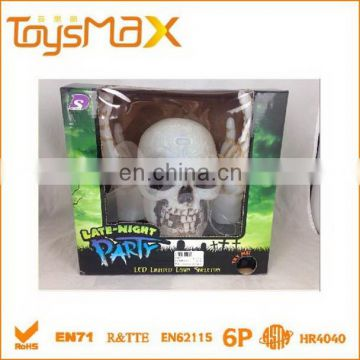 halloween decorative skull light with hands
