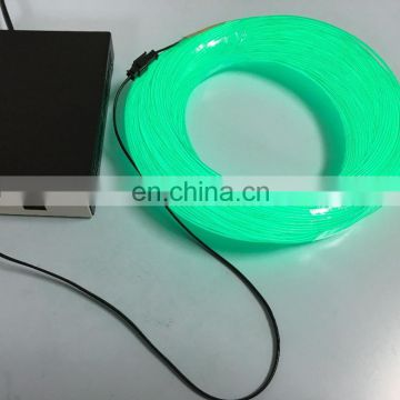 hot sale 1m 3m 5m el wire factory price/multi color electroluminescent wire 4mm blue white green color
