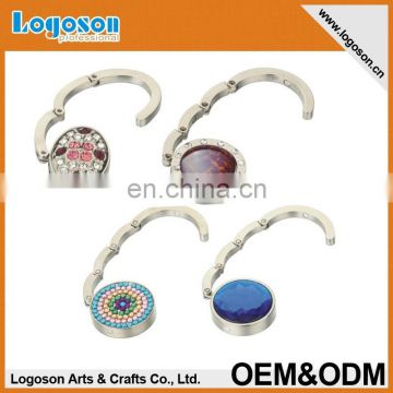 LJ-278 Round metal foldable printed bag hook