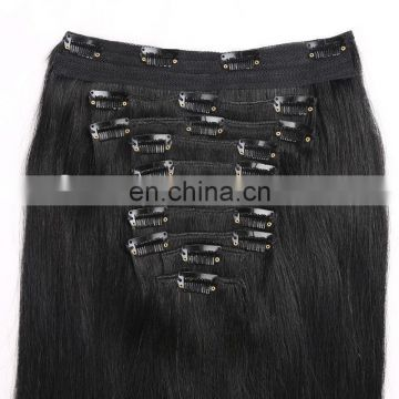 cheap 100% human hair factory supply one piece clip in human hair extensions