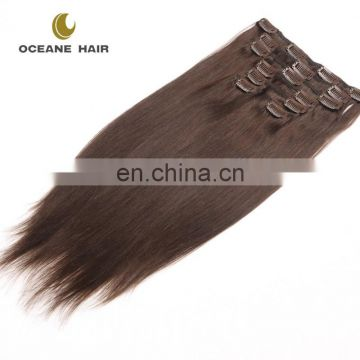 No tangle and shedding grey color clip in hair extension prices