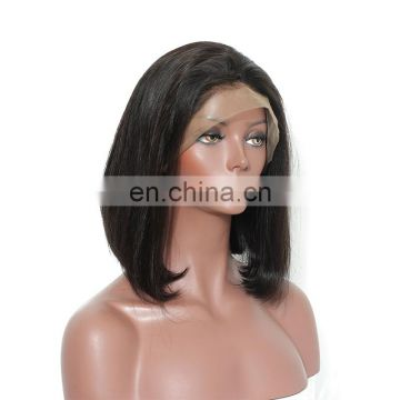 Virgin hair extension short human hair full lace wigs lace front wigs
