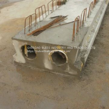 dia300 culvert balloon for casting double-rings culvert  in-situ, ring culvert construction, concrete pipe construction