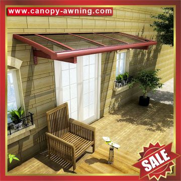 pc polycarbonate aluminum aluminium metal pc outdoor window door porch gazebo patio canopy canopies cover awning shelter kits
