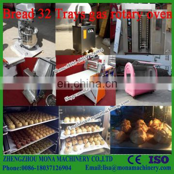 32 Trays Automatic Bakery Machinery Arabic Bread Oven Electric Rotary Oven for Bread Making