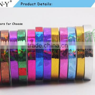 ANY Nail Art DIY Using Wave Golden Strip Sticker for Nail Art