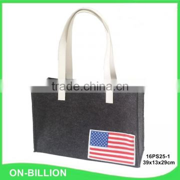 High quality fabric material felt bag with high handles