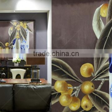 Wall art modern abstract painting with golden foil for home decor