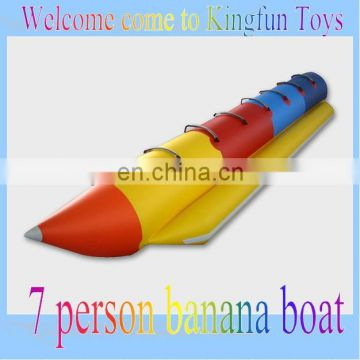 Inflatable water banana boat,inflatable water boat