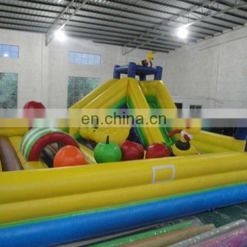 hot, fruit zone, inflatable fun city, inflatable fun park