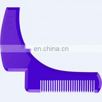 new customized logo coloring plastic beard trimming tool beard shaper