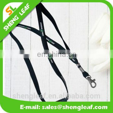 Promotional custom brand name printing polyester lanyard with card holder