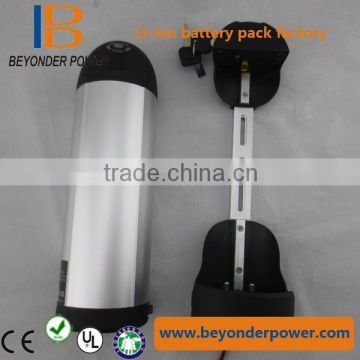 e-bike li-ion battery water bottle battery pack 36v with controller