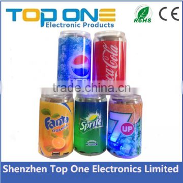 Mini USB OEM logo Tin Cans Speaker for Promotion