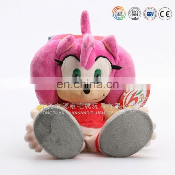 OEM cartoon pink doll big eyes cute cartoon doll toy