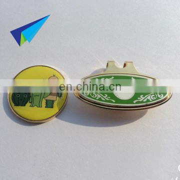 Custom novelty dog shape hat clips with magnetic ball markers in good quality