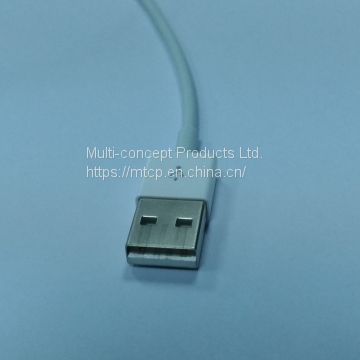 USB Type A Plug to Lightening Plug Cable Assembly