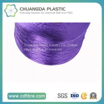100% Textile 900d Purple FDY PP Yarn for Cabled Twist