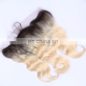 hot selling two tone color 1B/613 Brazilian hair lace frontal ombre