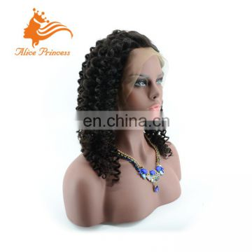 7A grade deep kinky curly full lace wigs original brazilian human hair lace wig full lace wig