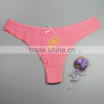 Sexy Hot Teen Girls Underwear Flower Embroidery Panties Women's Thongs