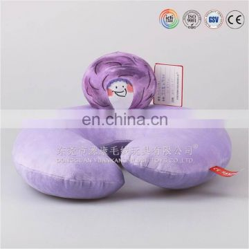 plush neckpillow; ICTI neck pillow U shape plush