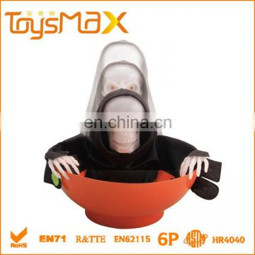 Halloween Toy Wholesale Halloween Candy Bowl Skull With Light and Sound