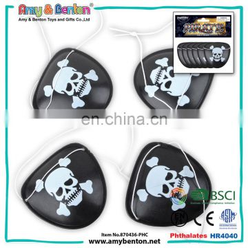 Top selling kids pirate party favors plastic black pirate eye patch