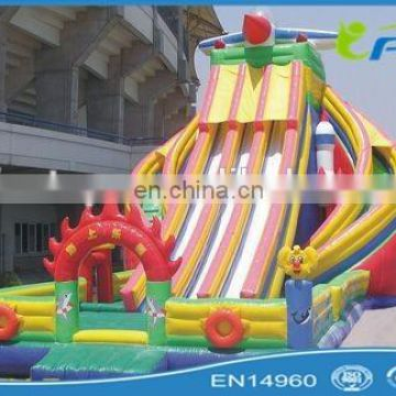 sea world inflatable water slide inflatable aqua slide for ocean inflatable beach slide