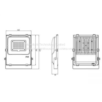 LED Floodlight Housing MLT-FLH-CS-II