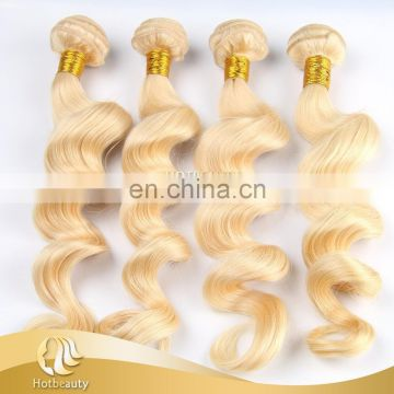 Supplier price for wholesale cheap virgin human hair 613 adroable russian blonde Hair Extensions natural wave 2017