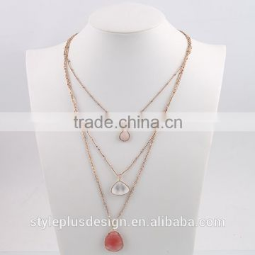N76762W02 Thin Gold Chain Infinity Crystal Jewelry Multi Layer Necklace Gold Design