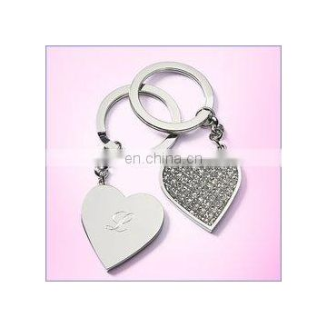 Personalized Glitter Heart Keychain