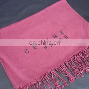 Pashmina Shawls With Embroidered Logo