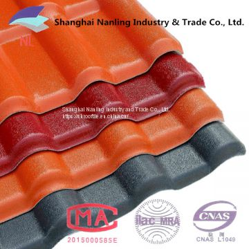 Shanghai factory direct ASA synthetic resin roof tile