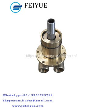 Flange coupling hydraulic coolant water rotary joint tube steam swivel pipe joint