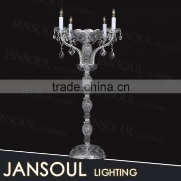 4 candelabra antique table lamp made in china new design crystal table lamp