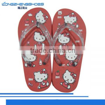 Hello Kitty series PVC strap EVA beach slippers flip flop