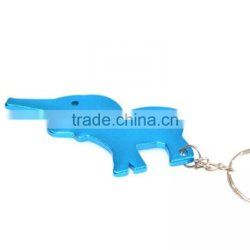 Wholesale bulk cheap Aluminum alloy animal beer bottle opener keyring