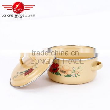 chinese hot sale high quality cheap enamel cookware sets / casserole