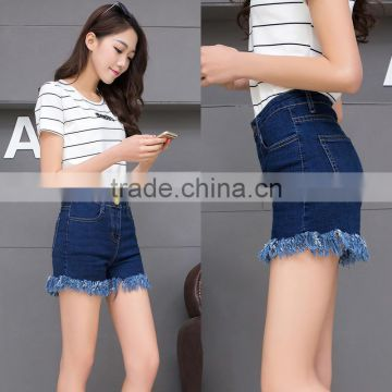 new style summer high waist tassels ladies fashion hot shorts hot jeans shorts